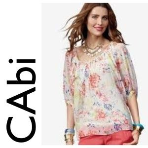Vintage CAbi In Case Blouse Floral Sheer Top